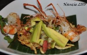 Casa Luna's Shrimp and Avacado Salad