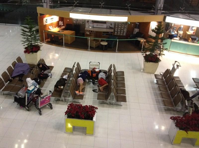 After midnight Suvamabhumi Airport