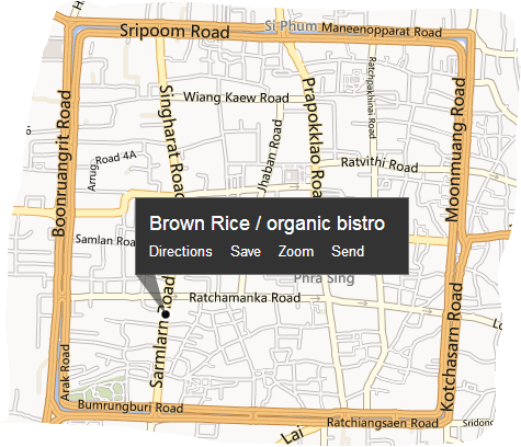 Map to Brown Rice Organic Bistro