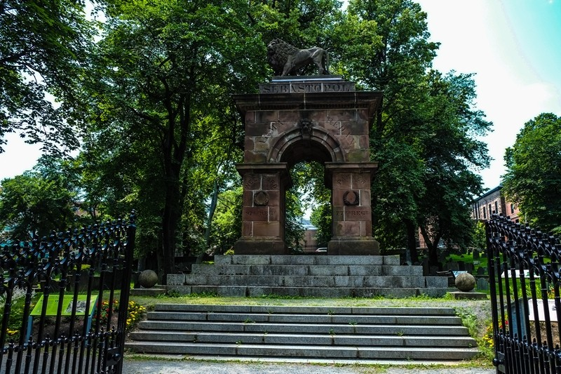 Only monument in North America commemorating the Crimean War.