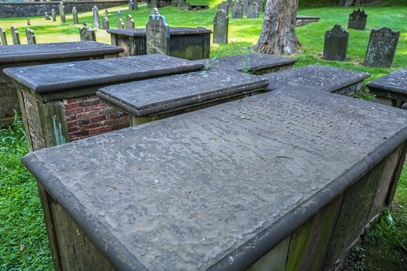 Crypts at the Old Burial Ground