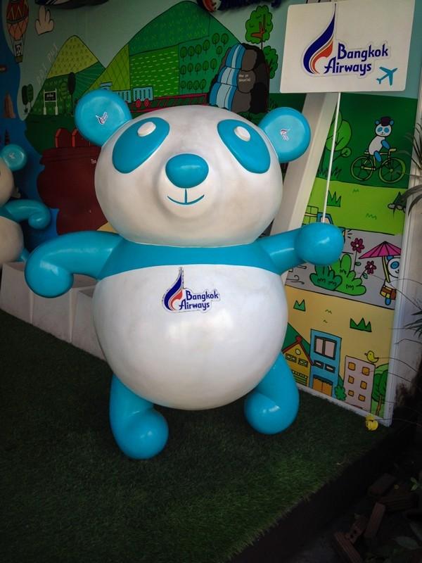 Bangkok Airways Panda Bear Mascot, Chiang Mai, Thailand