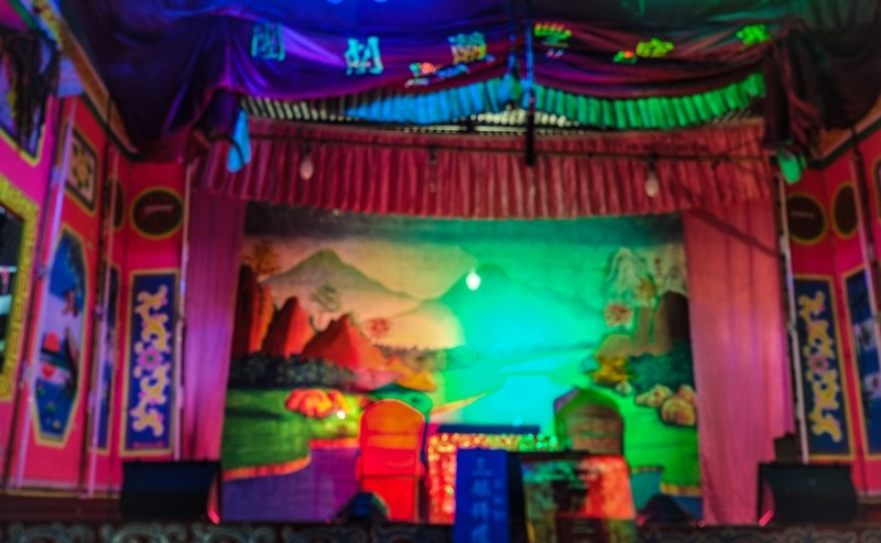 Colorful stage for the Chinese Opera