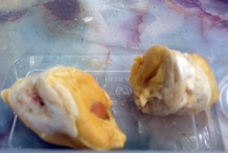 Eating durian in Penang