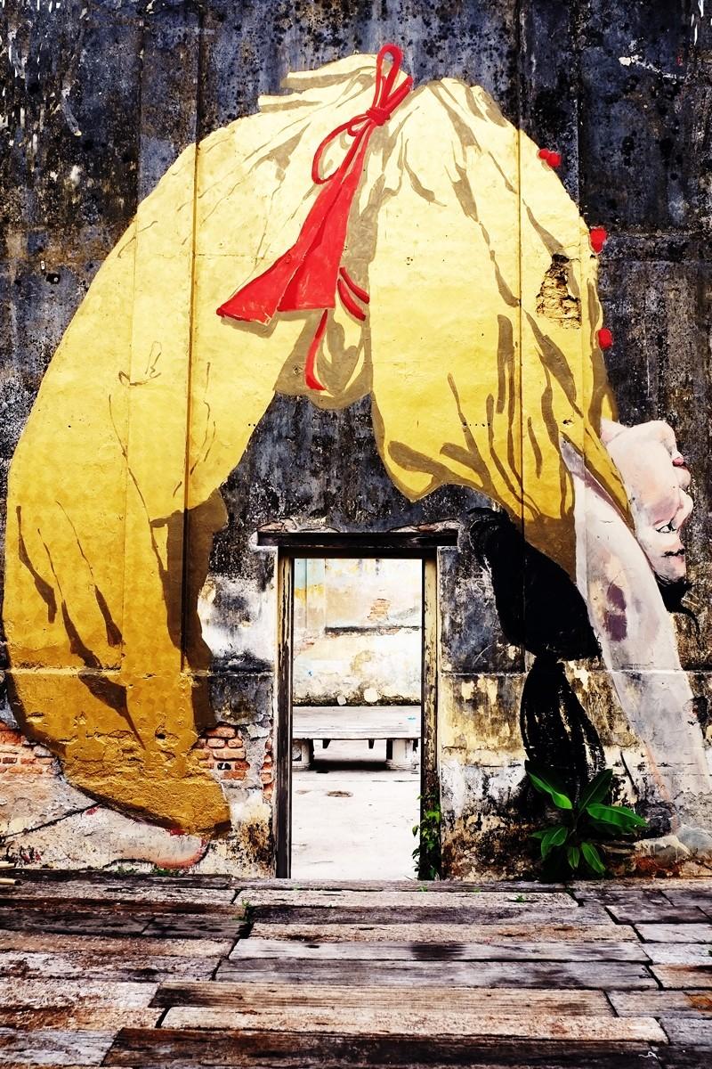 Ponytail Girl Mural, Penang