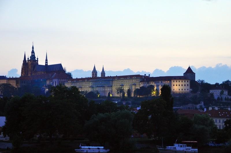 From the Vitava riverbank, Prague
