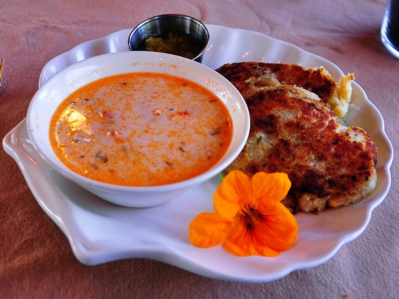 Delicious fish chowder and cakes at the Train Station Inn